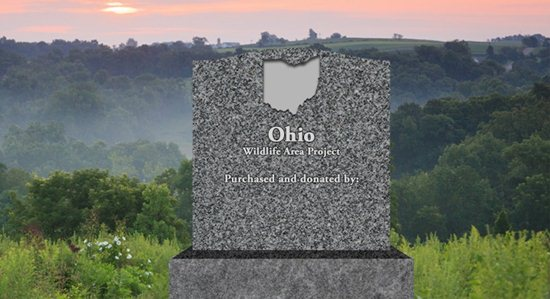 Donors to Pheasants Forever's first Build a Wildlife Area project in Ohio will be recognized on a monument at the area.