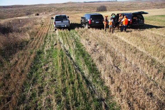A group of North Dakota Pheasants Forever members prepare to take to the field.