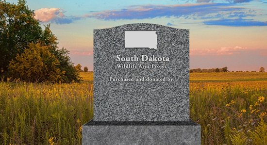 Donors to Pheasants Forever's first Build a Wildlife Area project in South Dakota will be recognized on a monument at the area.