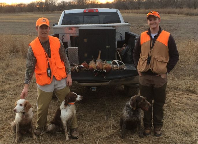 Augustine's son Ted (right) has in turn brought others, such as friend Logan Shetler, into the hunter-conservationist fold.