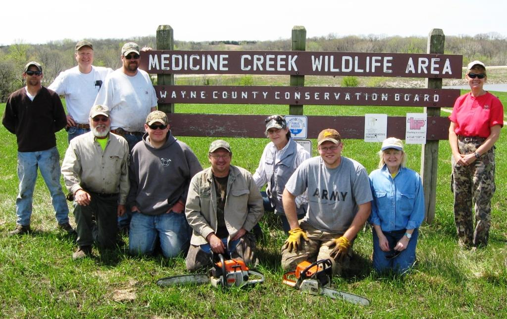 The Medicine Creek Wildlife Area, an 1,100-acre public tract in Wayne County, Iowa, underwent an upland habitat facelift thanks to volunteers from the local Wayne County Chapter of Pheasants Forever.