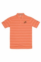 PF Puma Pounce Stripe Polo - Vibrant Orange