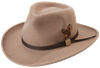 Crushable Felt Outback Hat - Putty