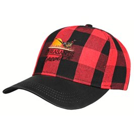 PF Buffalo Plaid Wax Brim Hat-Red/Blk