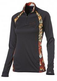 WSI Womens 1/4 Zip Microtech Shirt - Black