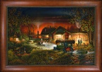 Framed Canvas -Morning Warm Up by Terry Redlin