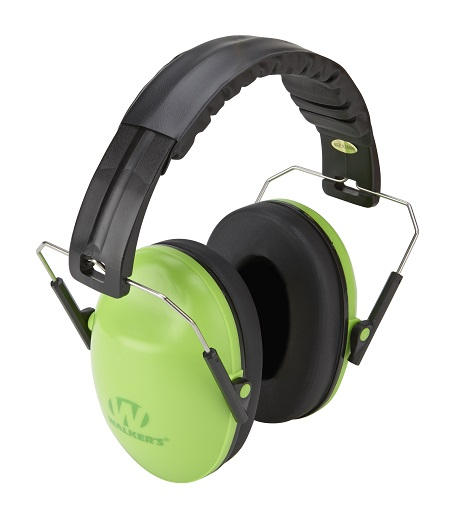 Walker's Folding Baby/Kids Earmuffs-23db NRR-Lime