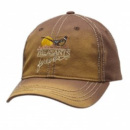 Faded Brown Twill Cap