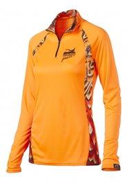 WSI Womens 1/4 Zip Microtech Shirt - Blaze