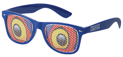 Rudy Rooster Eye Glasses-Blue