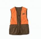 PF Orvis Upland Hunting Vest - Brown/Blaze
