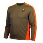 PF Gamehide High Performance Long Sleeve Tee - Tan/Orange