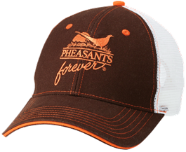 PF Brown/White Meshback Cap