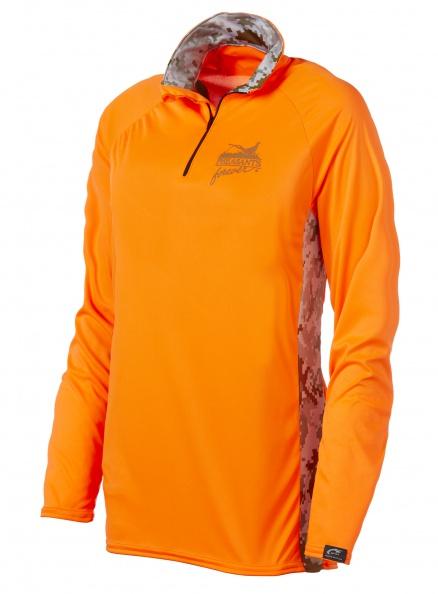 WSI Mens 1/4 Zip Microtech Shirt - Blaze