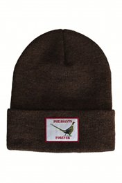 "PF 12"" Acrylic Cuffed Beanie-Brown"
