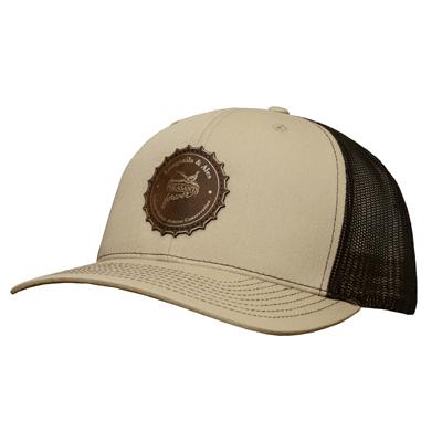 PF Longtails & Ales Hat - Khaki/Brown Meshback