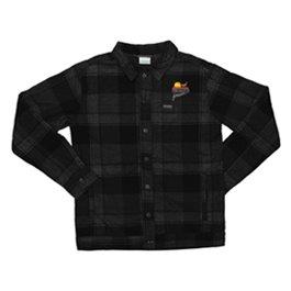 PF Columbia Flare Gun Shirt Jacket- Black Plaid