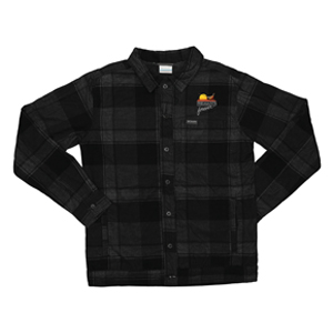 PF Columbia Flare Gun Shirt Jacket- Black Plaid