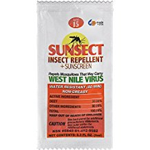 Sunsect Insect Repellent & Sunscreen 0.3 oz Foil Pack